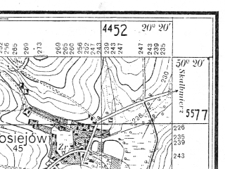 Reduced fragment of topographic map pl--wig--025k--P47S30-I--(1936)--N050-20_E020-10--N050-15_E020-20