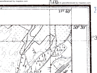 Reduced fragment of topographic map pl--wig--025k--P47S33-B--(1941)--N050-30_E021-30--N050-25_E021-40