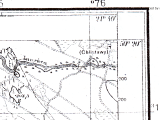 Reduced fragment of topographic map pl--wig--025k--P47S33-H--(1941)--N050-20_E021-30--N050-15_E021-40