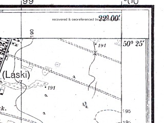 Reduced fragment of topographic map pl--wig--025k--P47S34-D--(1943)--N050-25_E021-50--N050-20_E022-00
