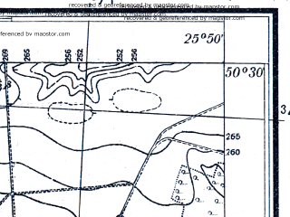 Reduced fragment of topographic map pl--wig--025k--P47S41-C--(1931)--N050-30_E025-40--N050-25_E025-50; towns and cities Ivannoye, Privol'noye