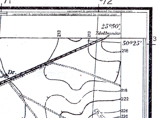 Reduced fragment of topographic map pl--wig--025k--P47S41-F--(1931)--N050-25_E025-40--N050-20_E025-50; towns and cities Dubno, Rachin, Straklov Vtoroy, Tarakanov