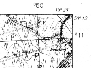 Reduced fragment of topographic map pl--wig--025k--P48S27-A--(1939)--N050-15_E018-20--N050-10_E018-30