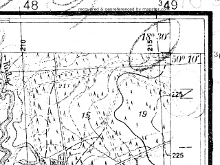 Reduced fragment of topographic map pl--wig--025k--P48S27-D--(1932)--N050-10_E018-20--N050-05_E018-30