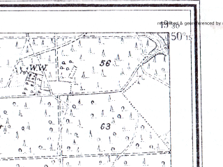 Reduced fragment of topographic map pl--wig--025k--P48S29-A--(1943)--N050-15_E019-20--N050-10_E019-30