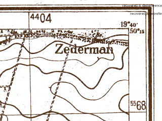 Reduced fragment of topographic map pl--wig--025k--P48S29-B--(1944)--N050-15_E019-30--N050-10_E019-40