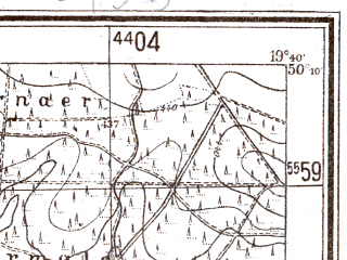 Reduced fragment of topographic map pl--wig--025k--P48S29-E--(1944)--N050-10_E019-30--N050-05_E019-40; towns and cities Krzeszowice