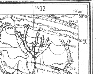 Reduced fragment of topographic map pl--wig--025k--P48S29-G--(1944)--N050-05_E019-20--N050-00_E019-30
