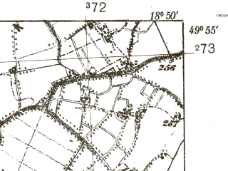 Reduced fragment of topographic map pl--wig--025k--P49S27-F--(1938)--N049-55_E018-40--N049-50_E018-50