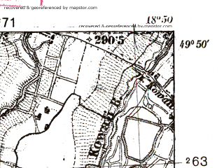 Reduced fragment of topographic map pl--wig--025k--P49S27-I--(1938)--N049-50_E018-40--N049-45_E018-50; towns and cities Skoczow