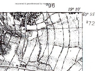 Reduced fragment of topographic map pl--wig--025k--P49S28-E--(1939)--N049-55_E019-00--N049-50_E019-10; towns and cities Czechowice-dziedzice