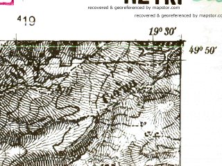 Reduced fragment of topographic map pl--wig--025k--P49S29-G--(1939)--N049-50_E019-20--N049-45_E019-30