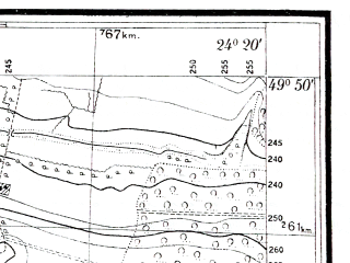 Reduced fragment of topographic map pl--wig--025k--P49S38-I--(1931)--N049-50_E024-10--N049-45_E024-20; towns and cities Chishki, Chizhikov, Verkhnyaya Belka