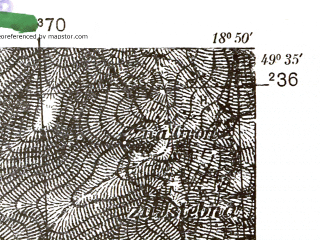 Reduced fragment of topographic map pl--wig--025k--P50S27-I--(1938)--N049-35_E018-40--N049-30_E018-50