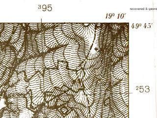Reduced fragment of topographic map pl--wig--025k--P50S28-B--(1939)--N049-45_E019-00--N049-40_E019-10