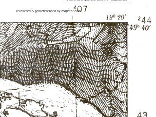 Reduced fragment of topographic map pl--wig--025k--P50S28-F--(1939)--N049-40_E019-10--N049-35_E019-20