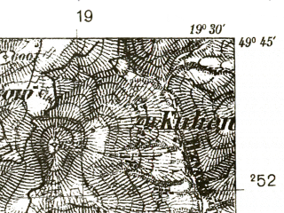 Reduced fragment of topographic map pl--wig--025k--P50S29-A--(1939)--N049-45_E019-20--N049-40_E019-30