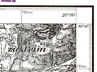 Reduced fragment of topographic map pl--wig--025k--P50S30-A--(1931)--N049-45_E019-50--N049-40_E020-00