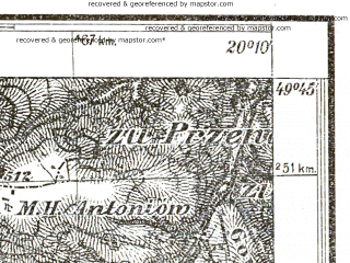 Reduced fragment of topographic map pl--wig--025k--P50S30-B--(1931)--N049-45_E020-00--N049-40_E020-10