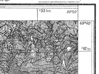 Reduced fragment of topographic map pl--wig--025k--P50S30-D--(1931)--N049-40_E019-50--N049-35_E020-00; towns and cities Rabka
