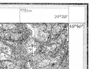 Reduced fragment of topographic map pl--wig--025k--P50S30-F--(1931)--N049-40_E020-10--N049-35_E020-20