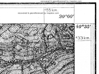 Reduced fragment of topographic map pl--wig--025k--P50S30-G--(1931)--N049-35_E019-50--N049-30_E020-00