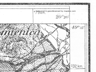 Reduced fragment of topographic map pl--wig--025k--P50S30-I--(1931)--N049-35_E020-10--N049-30_E020-20