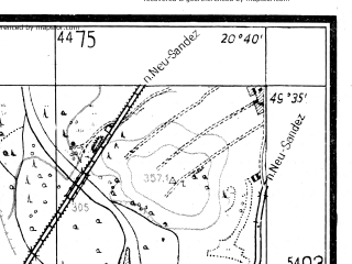 Reduced fragment of topographic map pl--wig--025k--P50S31-H--(1942)--N049-35_E020-30--N049-30_E020-40; towns and cities Stary Sacz