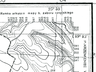 Reduced fragment of topographic map pl--wig--025k--P50S41-B--(1934)--N049-45_E025-30--N049-40_E025-40; towns and cities Dobrovody, Dubovtsy, Igrovitsa