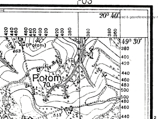 Reduced fragment of topographic map pl--wig--025k--P51S31-B--(1936)--N049-30_E020-30--N049-25_E020-40