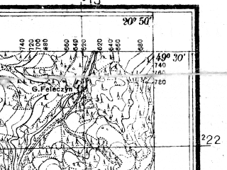 Reduced fragment of topographic map pl--wig--025k--P51S31-C--(1932)--N049-30_E020-40--N049-25_E020-50
