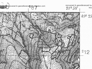 Reduced fragment of topographic map pl--wig--025k--P51S33-F--(1938)--N049-25_E021-40--N049-20_E021-50