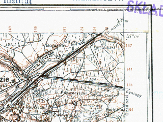 Reduced fragment of topographic map pl--wig--100k--P29S41--(1927)--N055-00_E025-20--N054-45_E025-50; towns and cities Nemenchine, Pabrade
