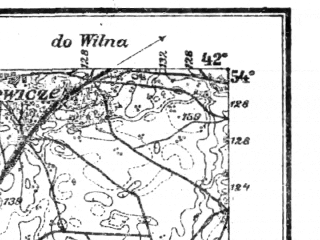 Reduced fragment of topographic map pl--wig--100k--P33S38--(1921)--N054-00_E023-50--N053-45_E024-20; towns and cities Gozha, Porech'ye