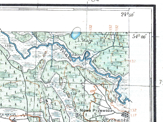 Reduced fragment of topographic map pl--wig--100k--P33S39--(1926)--N054-00_E024-20--N053-45_E024-50
