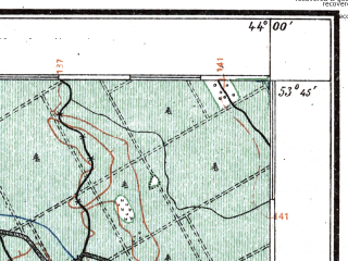 Reduced fragment of topographic map pl--wig--100k--P34S42--(1924)--N053-45_E025-50--N053-30_E026-20