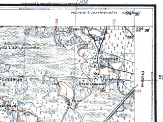 Reduced fragment of topographic map pl--wig--100k--P39S38--(1931)--N052-30_E023-50--N052-15_E024-20
