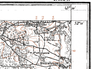 Reduced fragment of topographic map pl--wig--100k--P40S41--(1926)--N052-15_E025-20--N052-00_E025-50; towns and cities Duboy, Ivanovo, Pererub