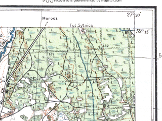 Reduced fragment of topographic map pl--wig--100k--P40S44--(1932)--N052-15_E026-50--N052-00_E027-20; towns and cities David-gorodok, Lakhva
