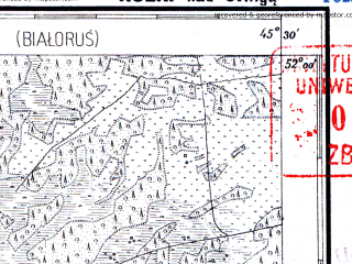 Reduced fragment of topographic map pl--wig--100k--P41S45--(1928)--N052-00_E027-20--N051-45_E027-50; towns and cities Rubrin