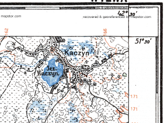 Reduced fragment of topographic map pl--wig--100k--P43S39--(1926)--N051-30_E024-20--N051-15_E024-50; towns and cities Staraya Vyzhevka, Synovo, Butsin