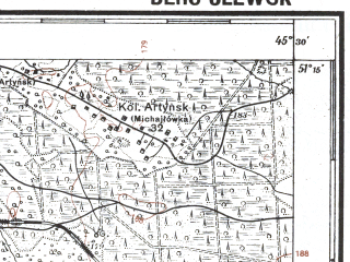 Reduced fragment of topographic map pl--wig--100k--P44S45--(1928)--N051-15_E027-20--N051-00_E027-50; towns and cities Olevsk, Radovel', Snovidovichi, Stolpinka
