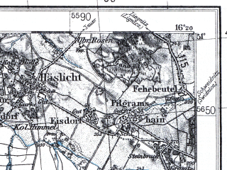 Reduced fragment of topographic map pl--wig--100k--P45S22--(1936)--N051-00_E015-50--N050-45_E016-20; towns and cities Walbrzych, Kamienna Gora, Swiebodzice, Bolkow