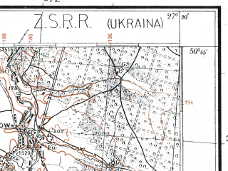 Reduced fragment of topographic map pl--wig--100k--P46S44--(1924)--N050-45_E026-50--N050-30_E027-20; towns and cities Korets, Mukharev, Novyy Korets, Pishchov