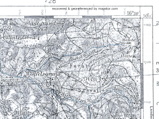 Reduced fragment of topographic map pl--wig--100k--P48S23--(1937)--N050-15_E016-20--N050-00_E016-50; towns and cities Miedzylesie