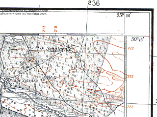 Reduced fragment of topographic map pl--wig--100k--P48S40--(1924)--N050-15_E024-50--N050-00_E025-20; towns and cities Brody, Chervonoarmeysk, Lopatin, Ponikovitsa, Zabolottsy