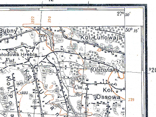 Reduced fragment of topographic map pl--wig--100k--P48S45--(1931)--N050-15_E027-20--N050-00_E027-50; towns and cities Polonnoye, Poninka, Velikaya Berezna, Novaya Chertoriya, Velikaya Novoselitsa