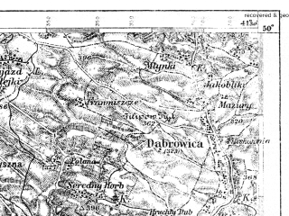 Reduced fragment of topographic map pl--wig--100k--P49S37--(1922)--N050-00_E023-20--N049-45_E023-50; towns and cities Yavorov, Gorodok, Novoyavorovskoye, Sudovaya Vishnya, Ivano-frankovo