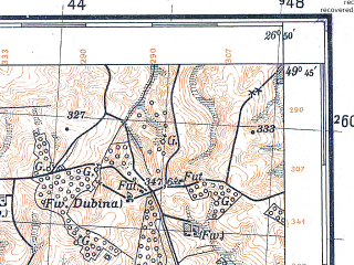 Reduced fragment of topographic map pl--wig--100k--P50S43--(1931)--N049-45_E026-20--N049-30_E026-50; towns and cities Pakhutintsy, Pisarevka, Velikiye Zozulintsy