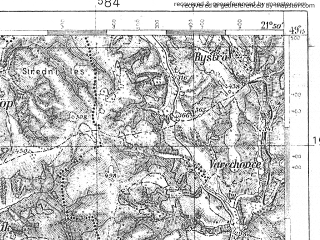 Reduced fragment of topographic map pl--wig--100k--P52S33--(1935)--N049-15_E021-20--N049-00_E021-50